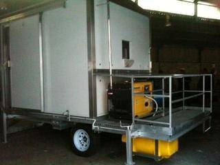 highlands trout portable trout stunner trailer