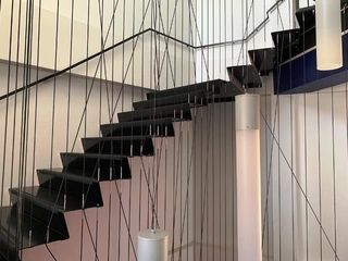 MILD STEEL POWDER COATED FLOATING STAIRCASE